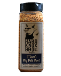 T-Bones Big Bold Beef Rub Champion competition dry rub with salt, pepper, and garlic.